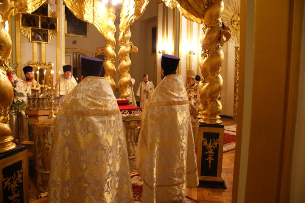 Пасхальное богослужение в соборе